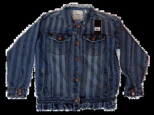 Kids One Teaspoon Stripe All Star Denim Jacket (HFOT-21852)