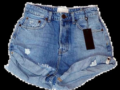 Womens One Teaspoon High Waist Bandit Shorts (HFOT-22965)
