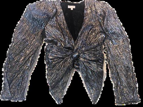 Womens Ronny Kobo Jaden Metallic Cropped Blouse (HFRK-932722MTF)
