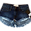 Thumbnail: Kids One Teaspoon Bonita Low Waist Denim Shorts (HFOT-21827)