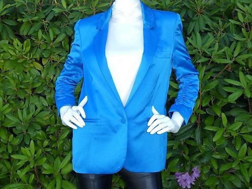 Womens Generation Love Fabien Satin Bright Blue Blazer (HFGL-SU20323)