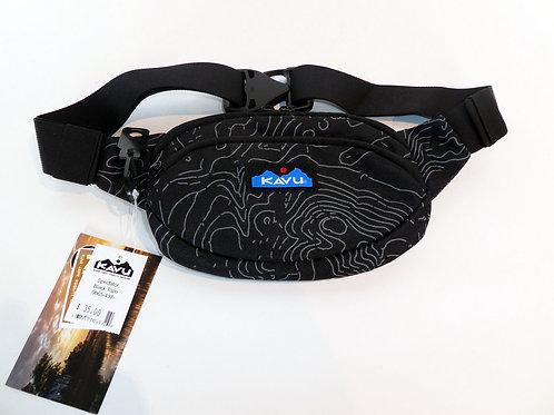 Kavu Spectator Belt Bag Fanny Pack Accessory Black Topo (ELAV-9065-437)
