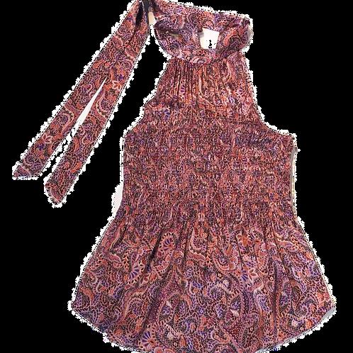 Womens Cinq a Sept.nyc Jeanne Smocked Paisley Silk Top (HF5A7-ZW7693379Z)