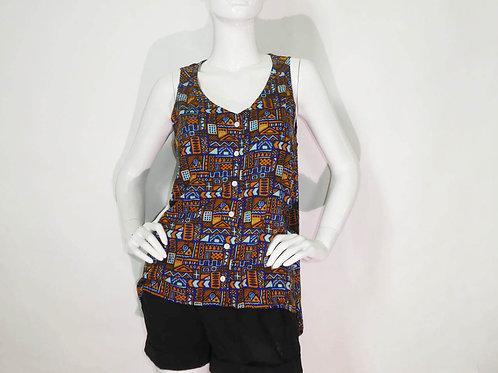 Kavu Womens Beryl Flow'n Sleeveless Button Blouse (ELAV-KA2040-889)