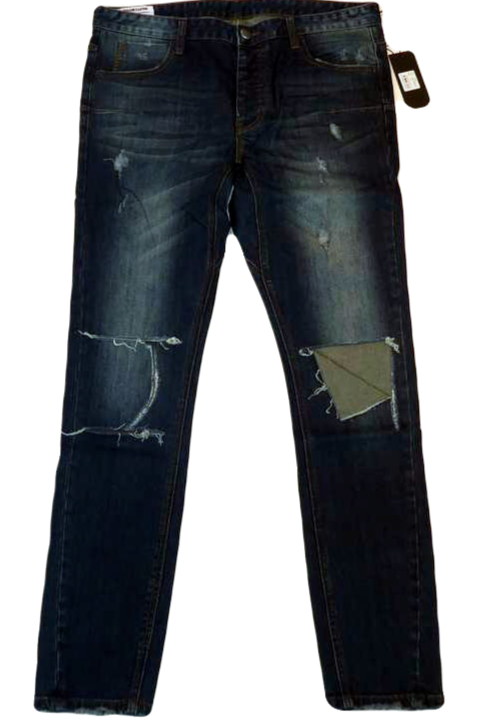 Mens One Teaspoon Mr Blues Jeans,Stretch,Relaxed Rise,Skinny(HFOT-19826ALONG)