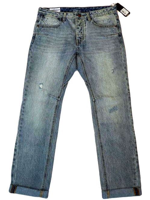 Mens One Teaspoon Mr Whites Jeans,14oz Low Slung,Relax Fit,Tapered(HFOT-17022A)