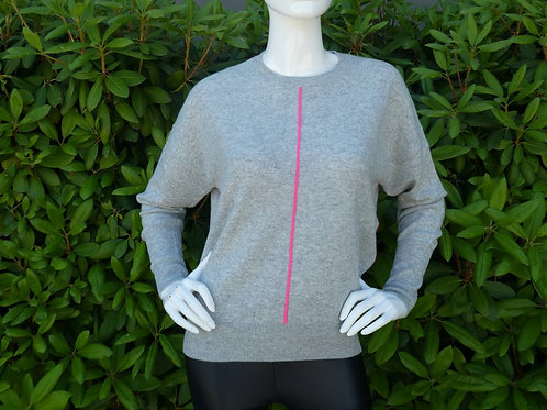 Womens One Grey Day Remy Cashmere Pullover (HFOGD-41OGD820)