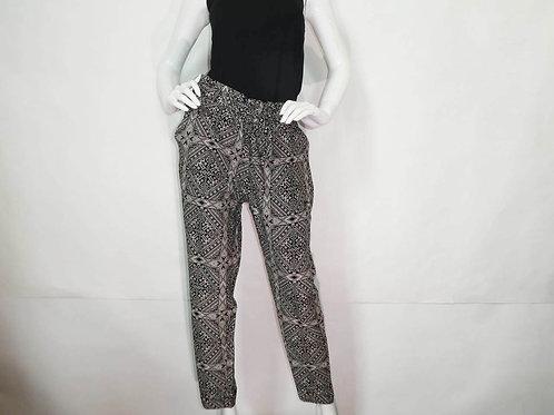 Kavu Womens Tiba Black Bandana Slim Fit High Waist Pant (ELAV-KA6104-898)