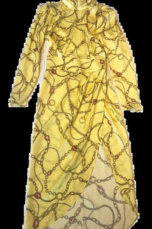 Womens Ronny Kobo Kaira Long Sleeve Silk Blend Dress (HFRK-9781409CSP)