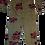 Thumbnail: Womens One Teaspoon Khaki Hibiscus Paradise Overalls (HFOT-23261)