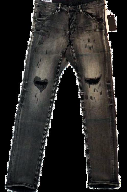 Mens One Teaspoon Mr Bones Jeans,Stretch,Drop Rise,Skinny Leg (HFOT-19827DREG)