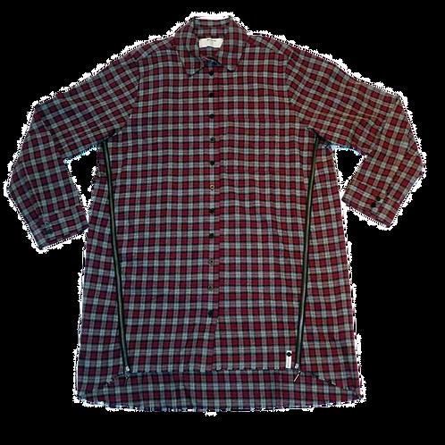 Womens One Teaspoon OS Check Zip Up Shirt (HFOT-21268B)