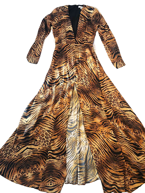 Womens Ronny Kobo Nann Tiger Print Maxi Dress (HFRK-0381821TJQ)