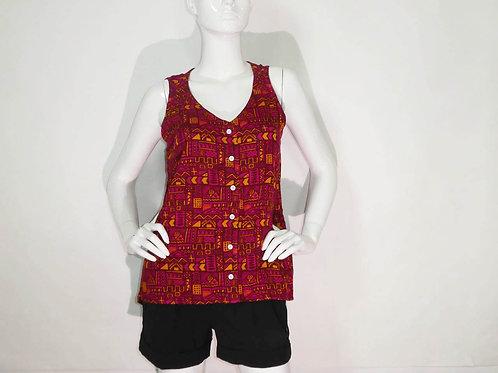Kavu Womens Beryl Flow'n Sleeveless Button Blouse (ELAV-KA2040-890)