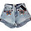 Thumbnail: Womens One Teaspoon Embroidered HW Bandit Shorts (HFOT-23208)