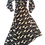 Thumbnail: Womens Ronny Kobo Estelle Cheetah Wrap Midi Dress  (HFRK-0481755CHC)