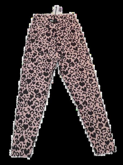 Womens Beach Riot Cara Twist Waist Pink Leopard Leggings (HFBR-BR1326SP20)
