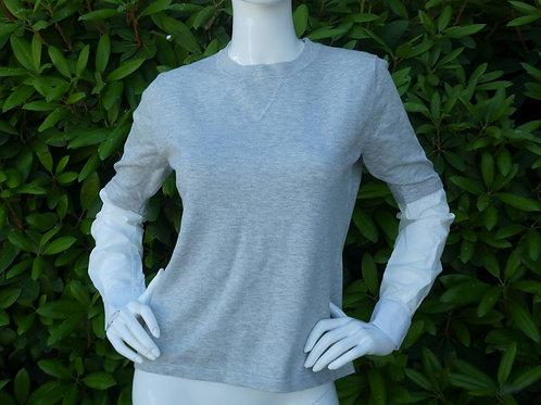 Womens One Grey Day Jackie Poplin Sweater (HFOGD-41OGD836)
