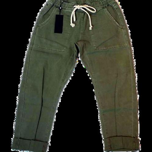 Womens One Teaspoon Khaki Shabbies Drawstring Jean (HFOT-23877)