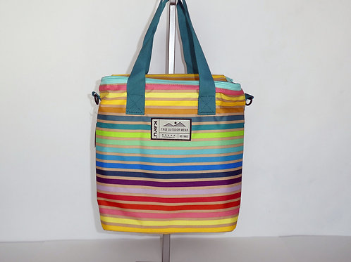 Kavu Insulated Summer Stripe Takeout Tote W/Adjustable Strap (ELAV-9186-1172)