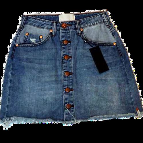 Womens One Teaspoon Viper Button Skirt (HFOT-22329)