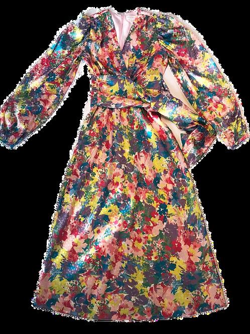 Womens Ronny Kobo Mia Long Sleeve Midi Dress (HFRK-9881344FJQ)