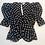 Thumbnail: Womens Ronny Kobo Liliana Polka-Dot Puff Sleeve Blouse (HFRK-9640151DPR)