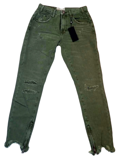 Womens One Teaspoon Khaki F-Bird High Waist Jean (HFOT-21313)