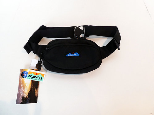 Kavu Spectator Belt Bag Fanny Pack Accessory Jet Black (ELAV-9065-396)