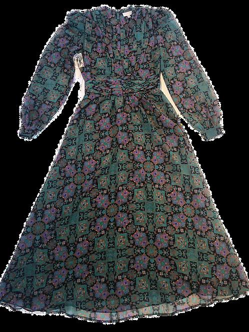 Womens Ronny Kobo Tula Plunge Neck LS Midi Dress (HFRK-0381457CAL)