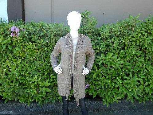 Womens One Grey Day Fringe Cardigan (HFOGD-40OGD825)