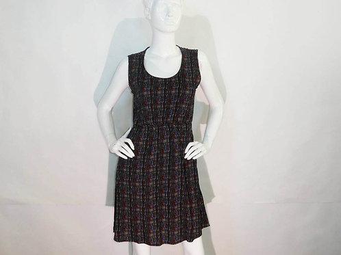 Kavu Womens Simone Black Electric Grid Summer Dress (ELAV-KA681-1210)