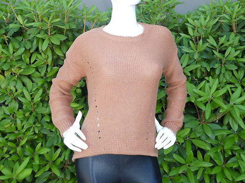 Womens One Grey Day Open Back Sweater (HFOGD-35OGD905)