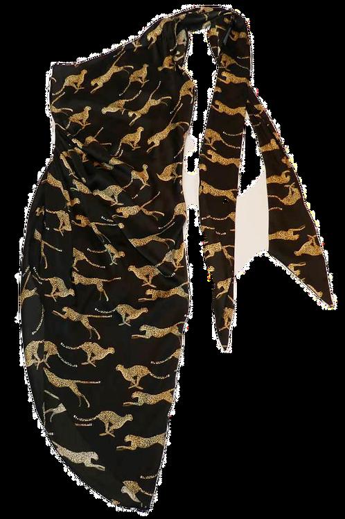 Womens Ronny Kobo Zoey Cheetah Dress  (HFRK-0481613CHC)