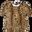 Thumbnail: Womens Generation Love Julia Puff Sleeve Leopard Print Velvet Top  (HFGL-F19221)