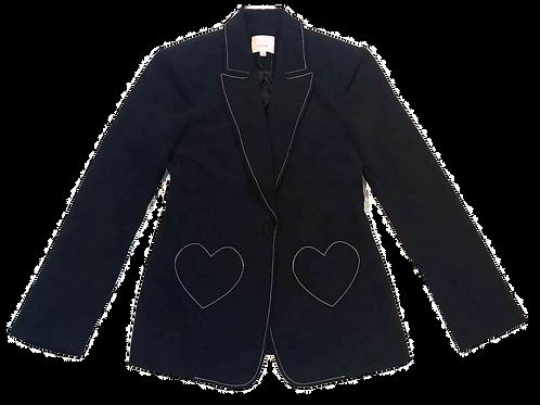 Womens Cinq a Sept.nyc Annie Heart Pocket Blazer (HF5A7-ZJ3121319Z)