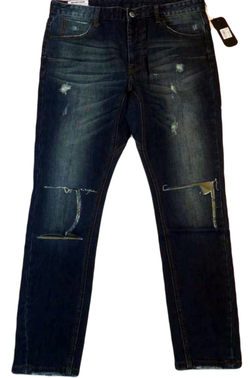 Mens One Teaspoon Mr Blues Jeans,Stretch,Relaxed Rise,Skinny Leg(HFOT-19826AREG)