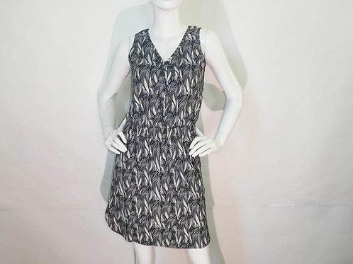 Kavu Womens Ensenada Front Pocket Ink Leaf Dress (ELAV-KA6095-1178)