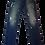 Thumbnail: Mens One Teaspoon Mr Whites Jeans,Rigid,Rlxed Rise,Tappered Leg(HFOT-18631D)