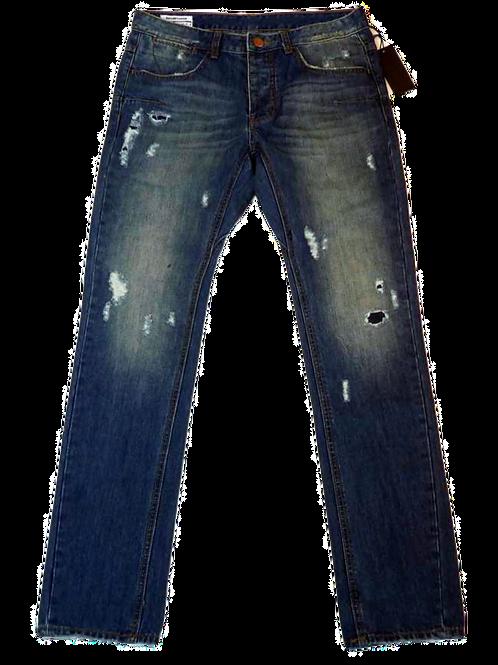 Mens One Teaspoon Mr Whites Jeans,Rigid,Rlxed Rise,Tappered Leg(HFOT-18631D)