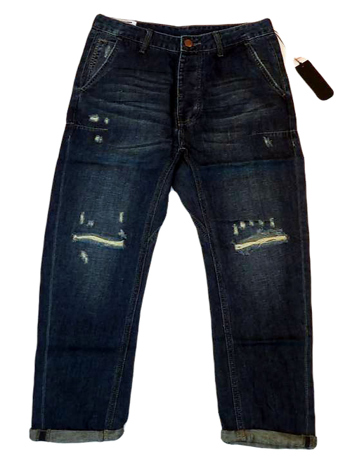 Mens One Teaspoon Mr Browns Jeans,Rigid,Rlxed Leg,Tappered Ankle(HFOT-19829CREG)