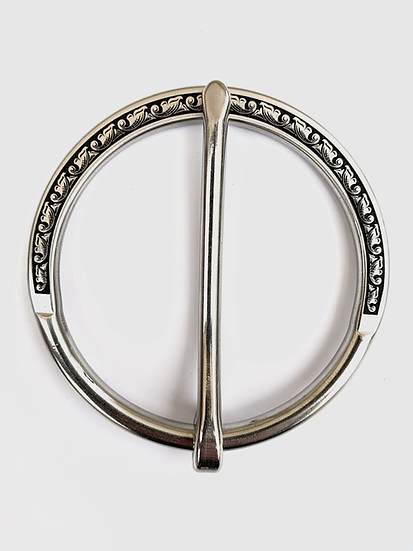 Stainless Scroll Running Leaf Cinch Buckle