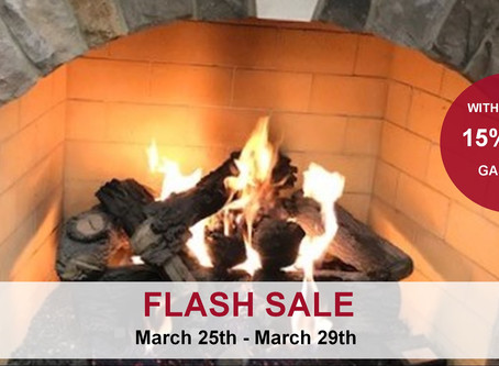 Flash Sale: 15% Off Gas Logs
