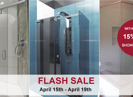Flash Sale: 15% Off Shower Doors