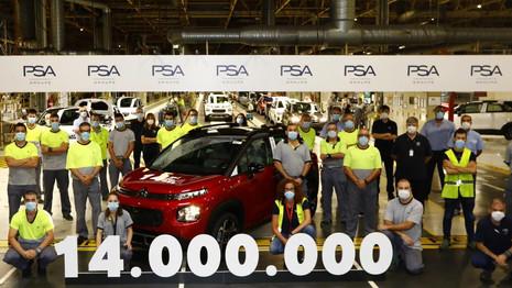 Le Citroën C3 Aircross devient la 14 millionième produite à Saragosse