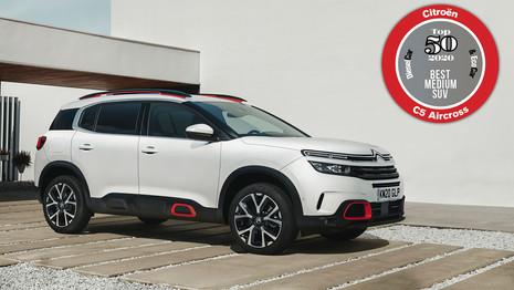 Le Citroën C5 Aircross nommé Meilleur SUV compact au Royaume-Uni