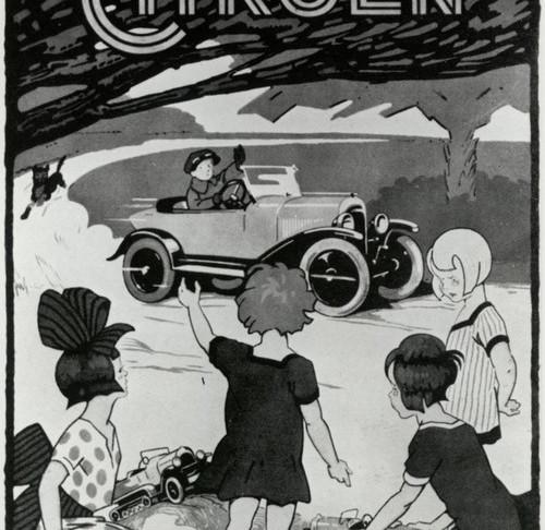 """André Citroën lance cette année-là la fabrication de jouets automobiles, véritables copies conformes de """"l'auto de papa"""". Premier modèle: la Torpédo B2 10HP. Plus de 30000 véhicules seront vendus les dix premières années."""