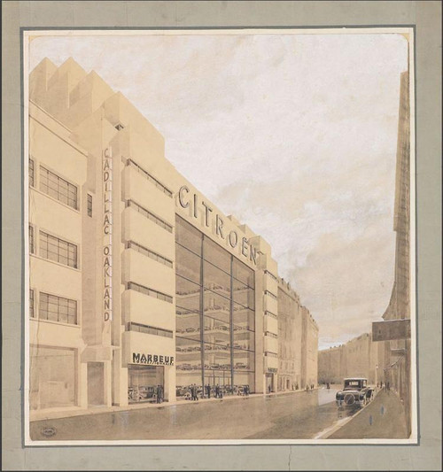 On March 16, 1929, the legendary Marbeuf garage was inaugurated. An architectural masterpiece that will pave the way for other emblematic places of the Brand.
