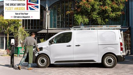 Le Citroën ë-Jumpy nommé Van de l'année au Royaume-Uni