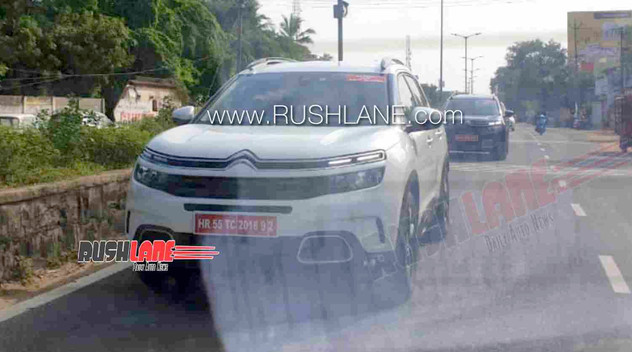 Le Citroën C5 Aircross surpris en test en Inde